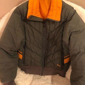 Gray& orange WarmCELL padded puma Jacket